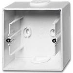 Купить коробку АВВ для накладного монтажа 1-постовая Basic55 альпийский белый недорого в интернет-магазине - Москва и регионы | Техпорт