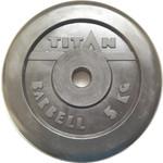 Купить Диск обрезиненный Titan 26 мм 5 кг черный