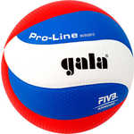 Купить Мяч волейбольный Gala Pro-Line 10 FIVB (BV5591S), размер 5, цвет бело-голубо-красный