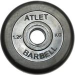 Купить Диск обрезиненный Atlet 26 мм, 1,25 кг черный