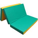 Купить Мат КМС № 4 (100 х 150 10) складной зелёно/жёлтый
