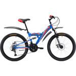 Купить Велосипед Black One Ice FS 24 D сине-красный