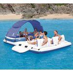 Купить Плавающая беседка Bestway 43105 для отдыха на воде (389х274 см 6 человек)