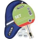 Купить Набор для настольного тенниса Stiga Stream 1* (ракетка, чехол и 3 мяча)