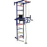 Купить Детский спортивный комплекс Крепыш плюс (02452) пристенный с брусьями ПВХ синий