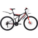Купить Велосипед Black One Phantom FS 26 D чёрный- красный- белый 18
