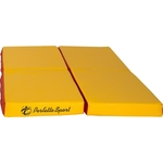 Купить Мат PERFETTO SPORT № 11 (100 х 100 10) складной (4 сложения) красно- жёлтый