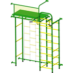 Купить Детский спортивный комплекс Пионер 10ЛМ зелёно- жёлтый