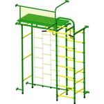 Купить Детский спортивный комплекс Пионер 10Л зелёно- жёлтый