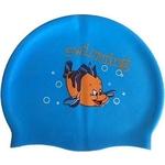 Купить Шапочка для плавания Dobest силиконовая с рисунком RH-C30 (голубая)