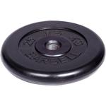 Купить Диск MB Barbell обрезиненный d 51 мм черный 25,0 кг