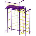 Купить Детский спортивный комплекс Пионер 10ЛМ пурпурно/желтый