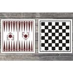 Купить Доска картонная двухстороняя (шахматы, шашки, нарды)