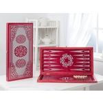 Купить Нарды ОФИ большие малиновые Китайский орнамент 152-17