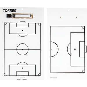 Тактическая доска для футбола Torres TR1002S, белая  - купить со скидкой