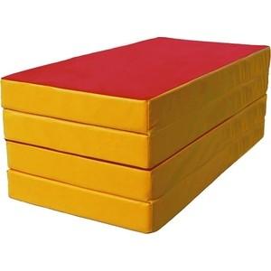 Мат КМС номер 5 (100х200х10см) красный/жёлтый купить недорого низкая цена  - купить со скидкой