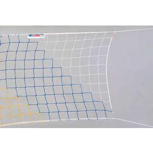 сетка, волейбольная, rezac, 15935004, желт, -голубой, дополнительная, информациясетка, волейбола, любительская, нить, полипропилен, ячейка, нейлоновый, шнур, верхней, ленты, цвет, желый-красный-голубой  - купить со скидкой