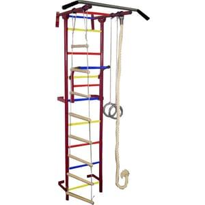 Детский спортивный комплекс Крепыш плюс Г пристенный - 1 бордовый купить недорого низкая цена  - купить со скидкой