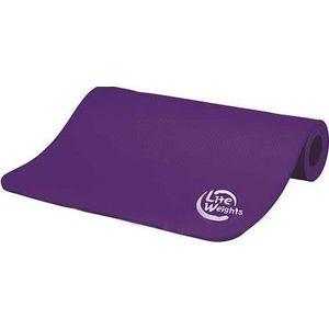 Коврик для йоги и фитнеса Lite Weights 180х61х1см 5420LW, фиолетовый  - купить со скидкой