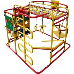 Детский спортивный комплекс Формула здоровья Мурзилка S красный- радугатехнические характеристики фото габариты размеры  - купить со скидкой