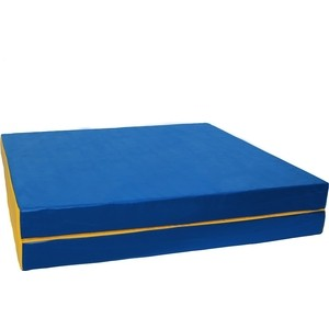Мат КМС № 10 (100 х 150 10) складной (1 сложение) сине- жёлтый 2627  - купить со скидкой