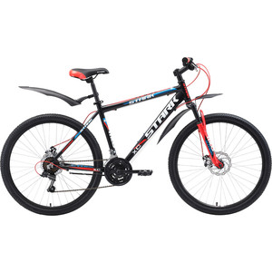 Велосипед Stark 18 Tank 26.1 D чёрный- красный- синий 20  - купить со скидкой