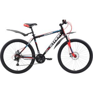 Велосипед Stark 18 Tank 26.1 D чёрный- красный- синий 16  - купить со скидкой