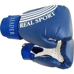 Перчатки боксерские RealSport Leader 10 унций синий купить недорого низкая цена  - купить со скидкой