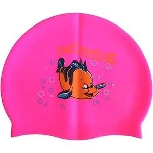 Шапочка для плавания Dobest силиконовая с рисунком RH-C10 (розовая) купить недорого низкая цена  - купить со скидкой