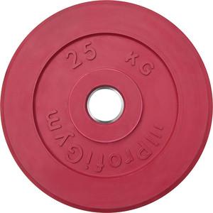 Диск ProfiGym обрезиненный d 51 мм красный 25,0 кг купить недорого низкая цена  - купить со скидкой