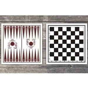 Доска картонная двухстороняя (шахматы, шашки, нарды)  - купить со скидкой