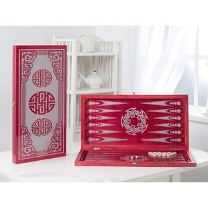 Нарды ОФИ большие малиновые Китайский орнамент 152-17  - купить со скидкой