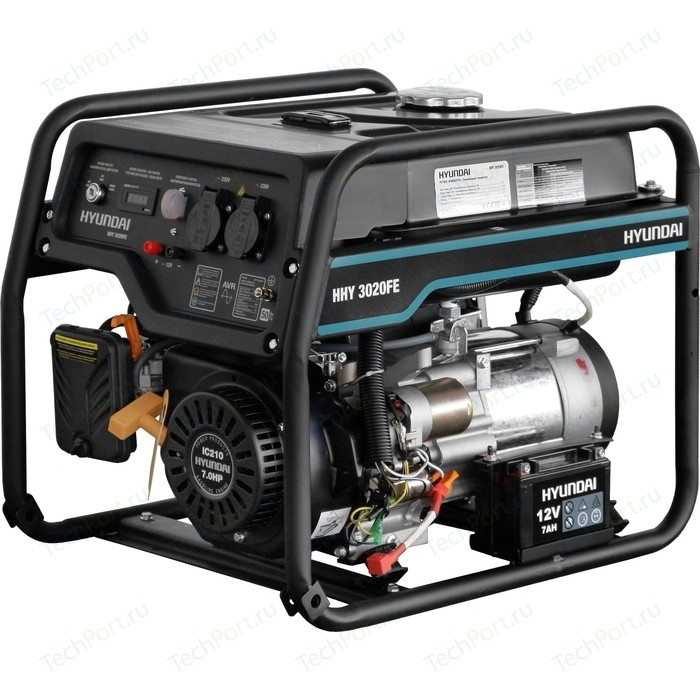 Генератор бензиновый Hyundai HHY 3020FE бензиновый генератор hyundai hhy 5020fe 230 в 4 5квт