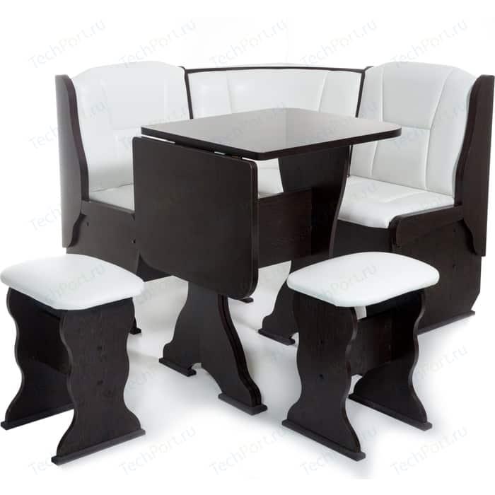 Кухонный уголок Бител Нарцисс-однотонный (венге, Борнео милк) набор мебели для кухни бител тюльпан мини однотонный венге борнео крем венге