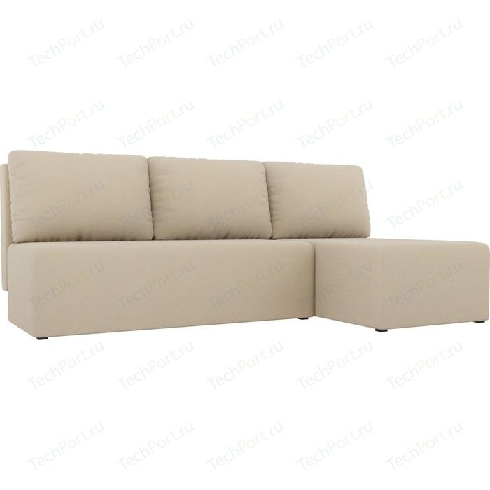 Угловой диван АртМебель Поло рогожка бежевый правый угол