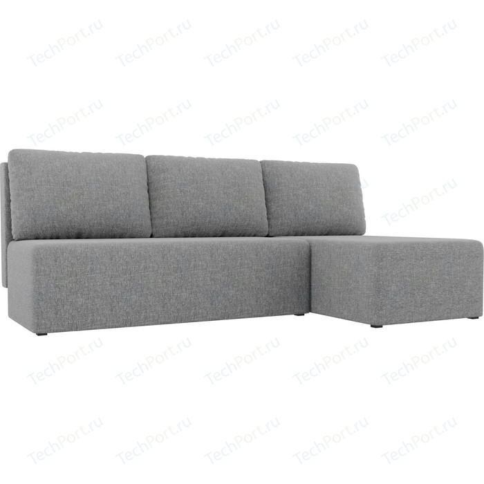 Угловой диван АртМебель Поло рогожка серый правый угол