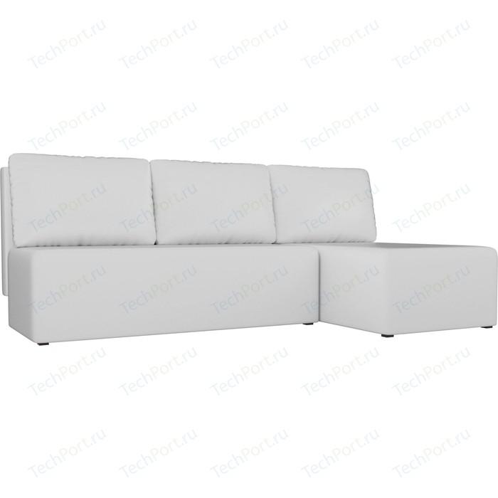 Угловой диван АртМебель Поло экокожа белый правый угол