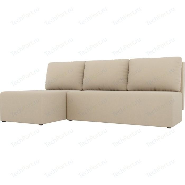 Угловой диван АртМебель Поло рогожка бежевый левый угол