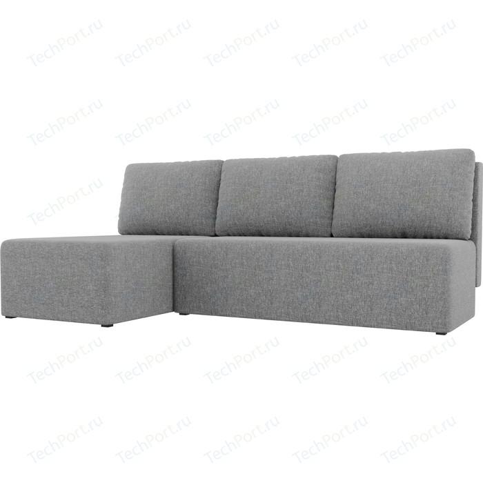 Угловой диван АртМебель Поло рогожка серый левый угол