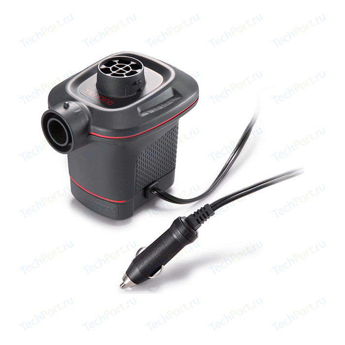Насос электрический Intex 66636 Quick-Fill 12В от прикуривателя (3 насадки в комплекте)