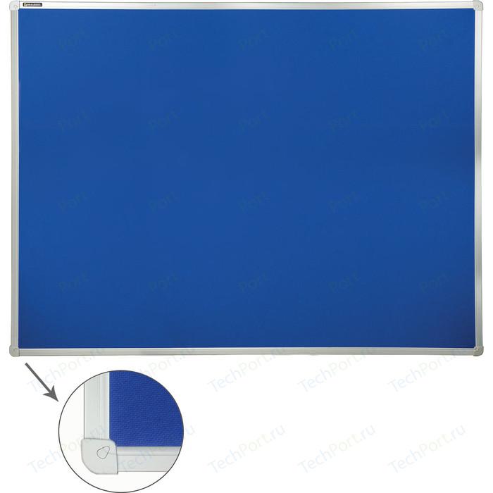 Доска c текстильным покрытием BRAUBERG 231701 синяя, для объявлений 90x120