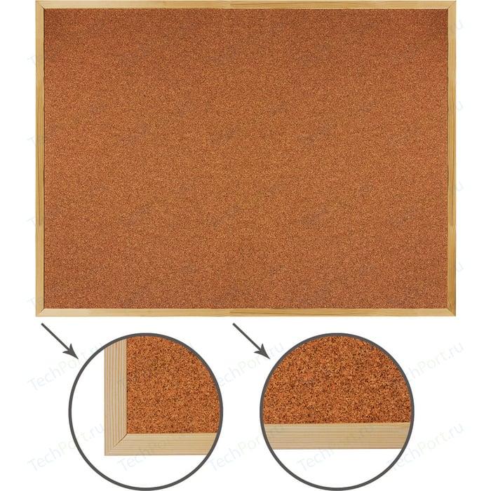 Доска пробковая BRAUBERG 236861 деревянная рамка, для объявлений 90x120