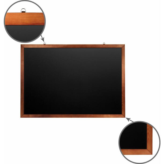 Доска магнитная BRAUBERG 236895 черная, деревянная окрашенная рамка, для мела 100x150