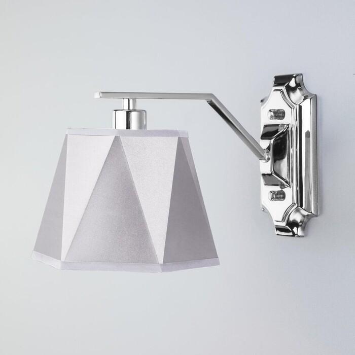 Бра Eurosvet 60076/1 хром настенный светильник евросвет corner 60076 1 хром