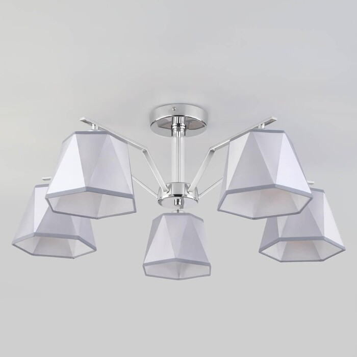 Потолочная люстра Eurosvet 60076/5 хром настенный светильник евросвет corner 60076 1 хром
