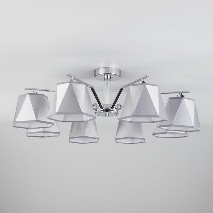 Потолочная люстра Eurosvet 60076/8 хром настенный светильник евросвет corner 60076 1 хром