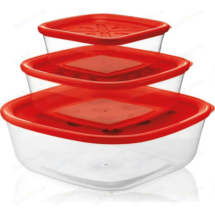 Набор из 3 контейнеров для продуктов Guzzini Forme Casa (21885231)