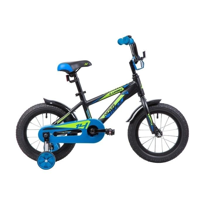 Велосипед 2-х колесный NOVATRACK 14 LUMEN алюм. черный 145ALUMEN.BK9