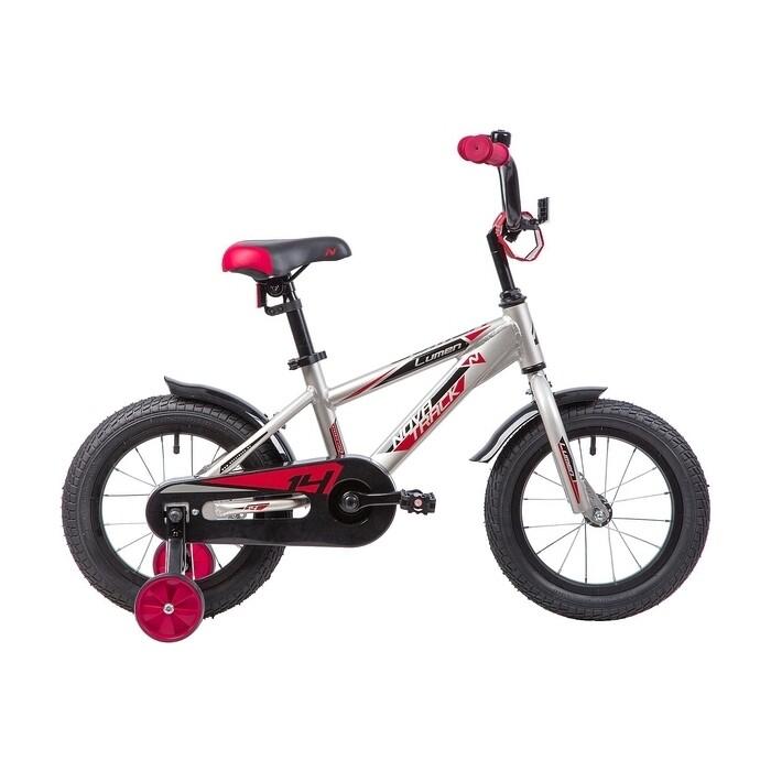 Двухколесный велосипед NOVATRACK 14 LUMEN алюм. серебристый