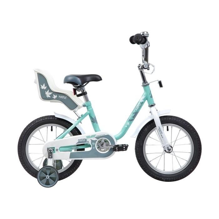 Велосипед 2-х колесный NOVATRACK 14 MAPLE серо-зеленый 144MAPLE.GR9
